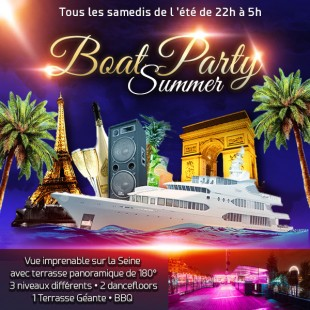 Paris Boat Summer Party (filles > Entrée Gratuite, 2 Ambiances Club, Terrasse Géant